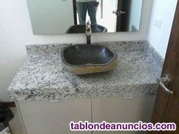 Trabajos de piedra interiores cocinas , baños , muebles personalizados