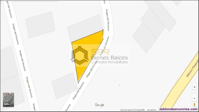 Terreno en venta 168m2 esquina, la guadalupana, ecatepec