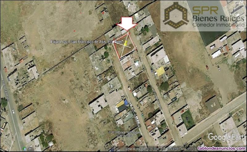 Terreno en venta 384m2, 2 frentes, san francisco de asis, ecatepec