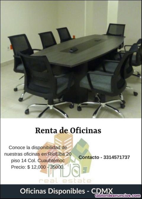 Renta de oficinas en cdmx