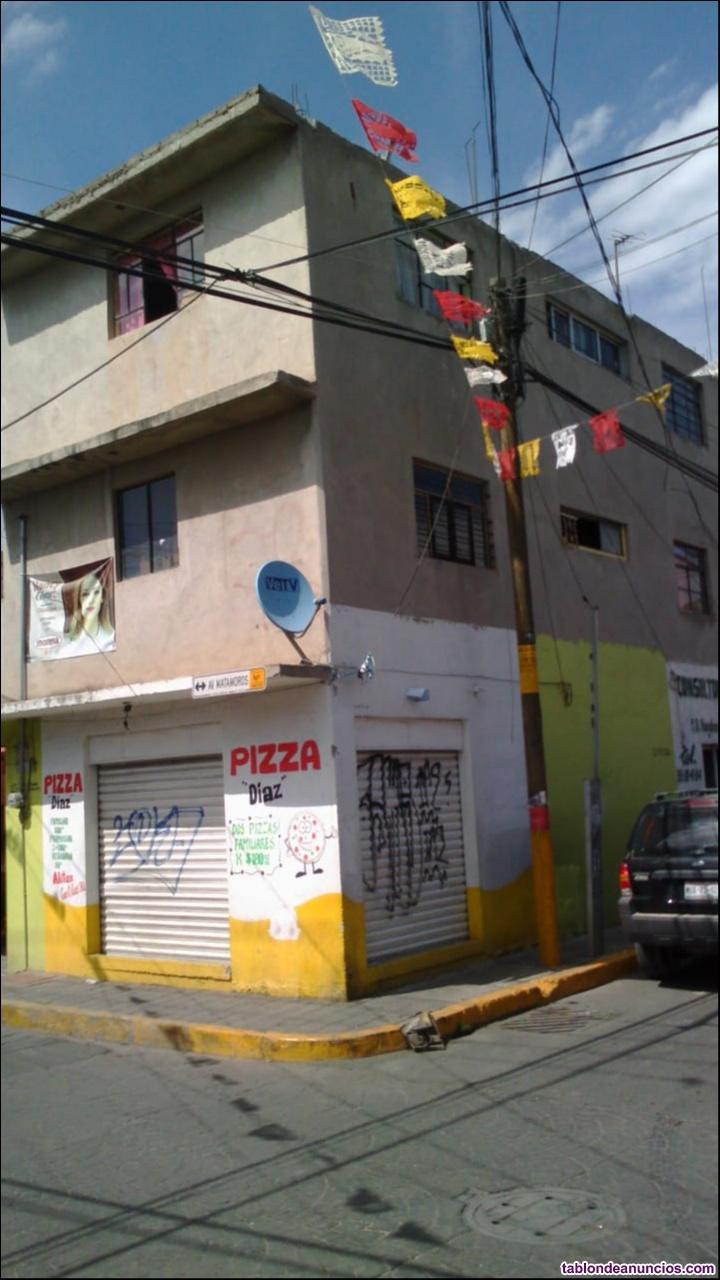 Casa con 9 departamentos en san vicente chicoloapan