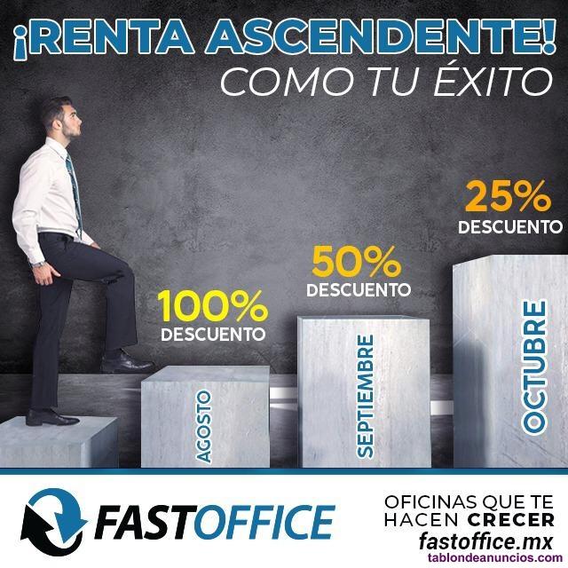 Preciosa oficina en renta servicios incluidos