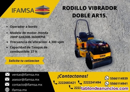 Rodillo vibratorio doble